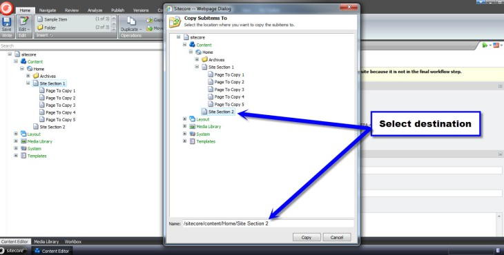 Copy Subitems To Dialog