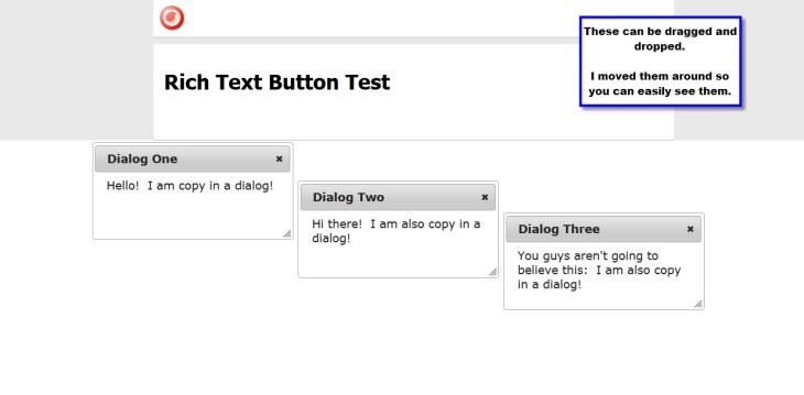 Rich Text Button Test