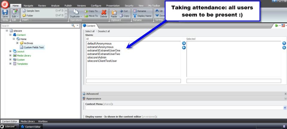 users multilist field test 1