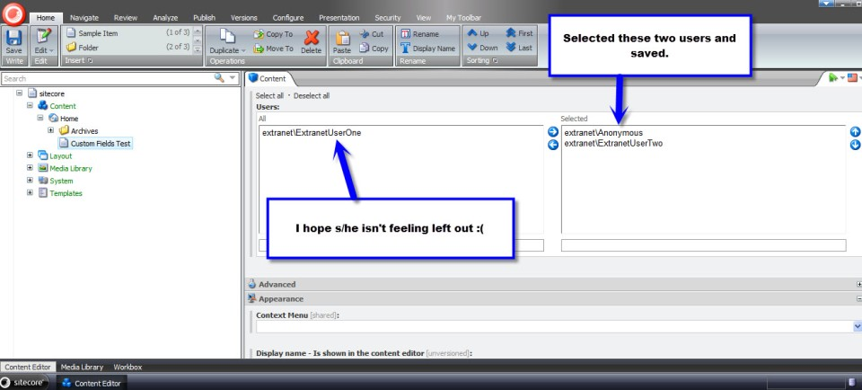 users multilist field test 4