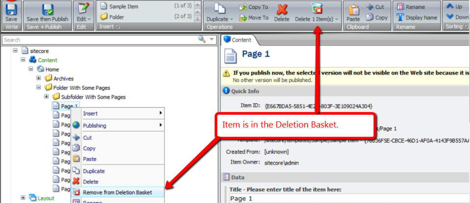 Toggle-In-Deletion-Basket