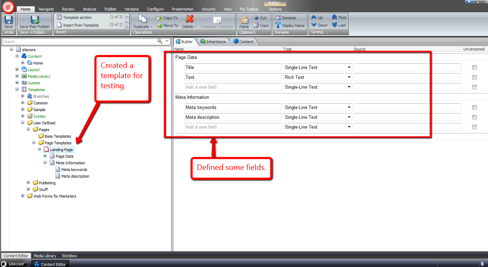 Reuse Sitecore Data Template Fields by Pulling Them Up Into a Base Template (1/6)