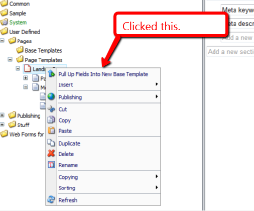 Reuse Sitecore Data Template Fields by Pulling Them Up Into a Base Template (2/6)
