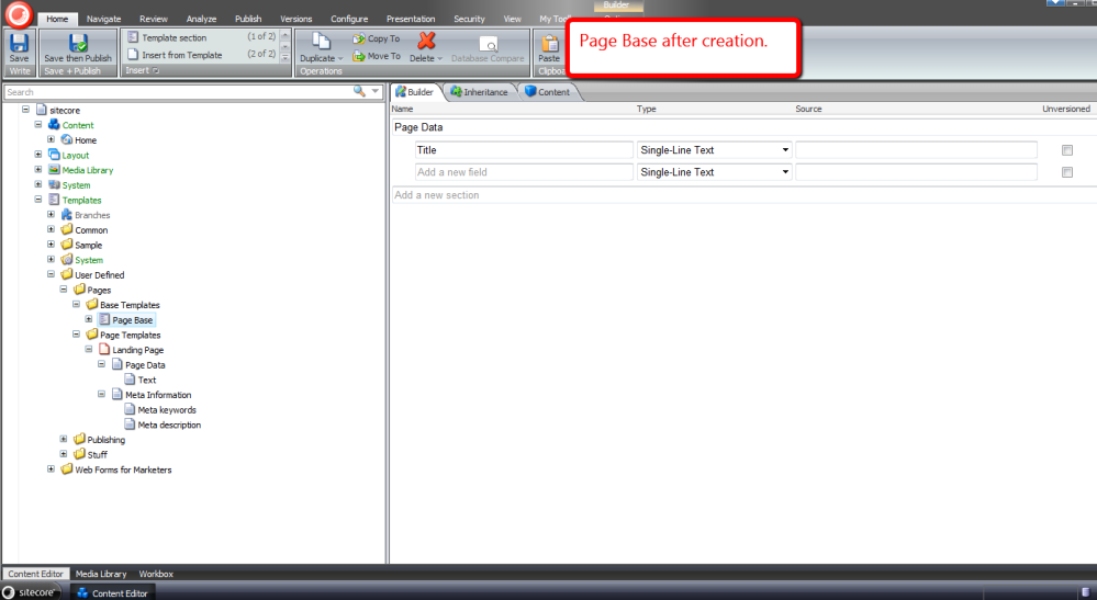 Reuse Sitecore Data Template Fields by Pulling Them Up Into a Base Template (6/6)