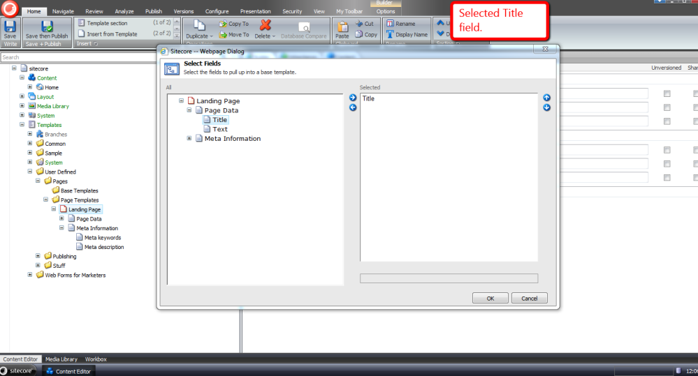 Reuse Sitecore Data Template Fields by Pulling Them Up Into a Base Template (3/6)