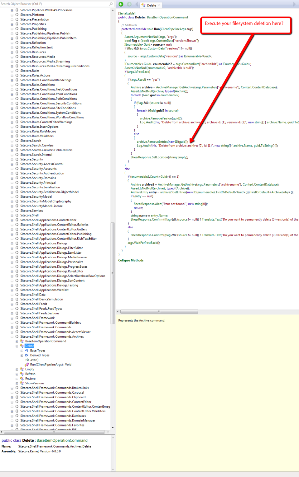 Sitecore.Shell.Framework.Commands.Archives.Delete