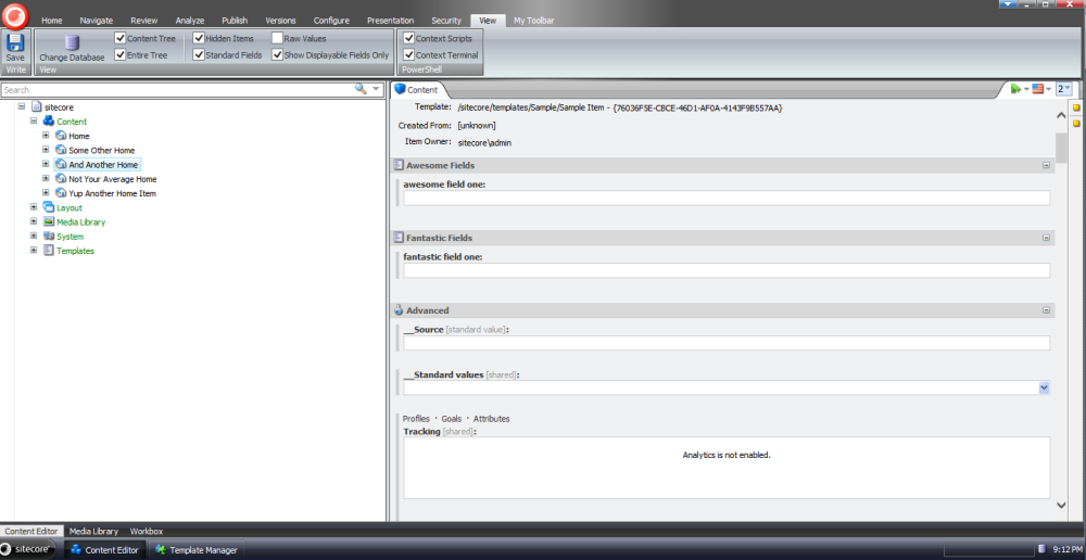Choose Template Fields to Display in the Sitecore Content Editor (5/6)
