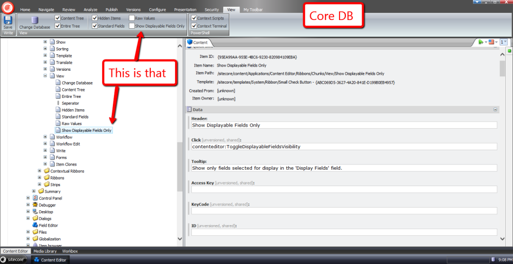 Choose Template Fields to Display in the Sitecore Content Editor (1/6)
