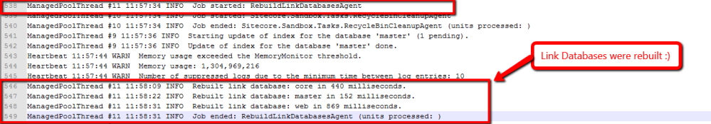 Periodically Rebuild Link Databases using an Agent in Sitecore