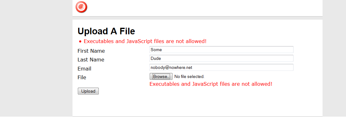 Restrict Certain Files from Being Attached to Web Forms for