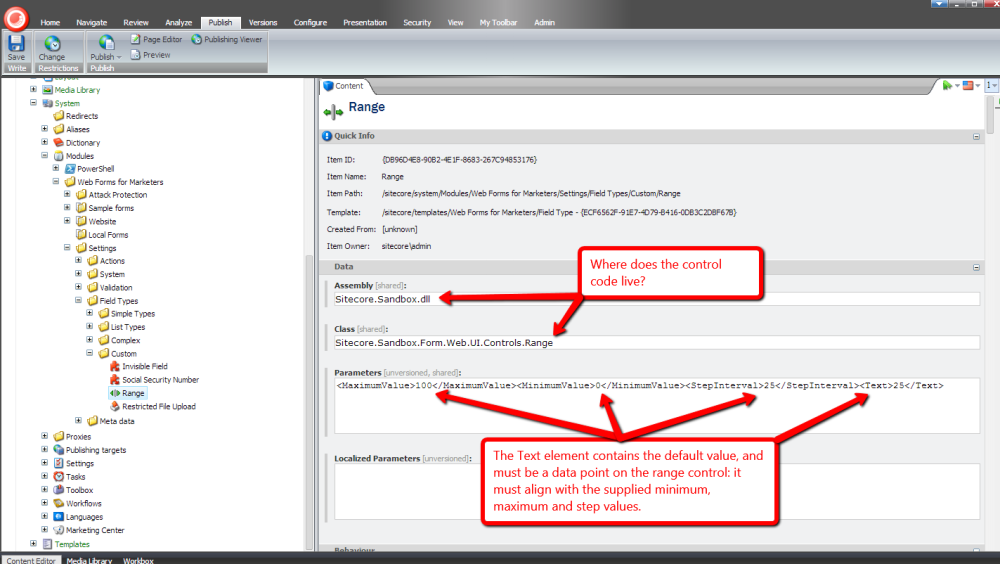 Add the HTML5 Range Input Control into Web Forms for Marketers in Sitecore (2/6)